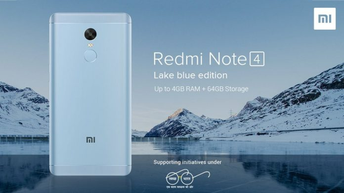 Redmi Note 4 Lake blue edition unveiled: Commemorates Wake the lake' campaign