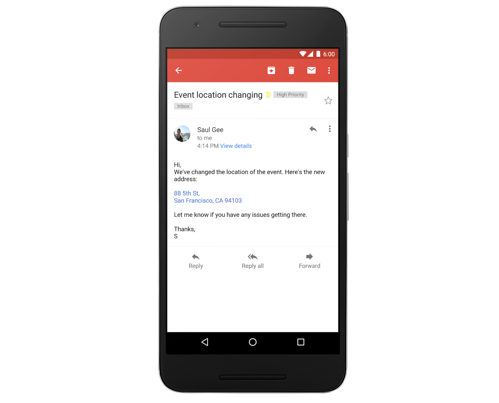 At long last, Gmail starts converting addresses and contact info into links
