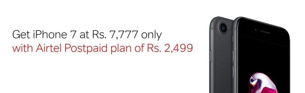 Apple iPhone 7 Airtel offer