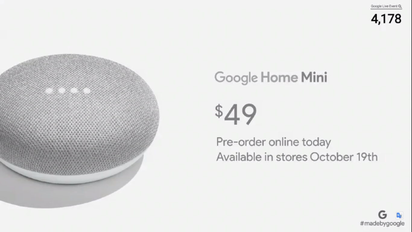 Google Home Mini Home Max Smart Speakers Launched Price Features