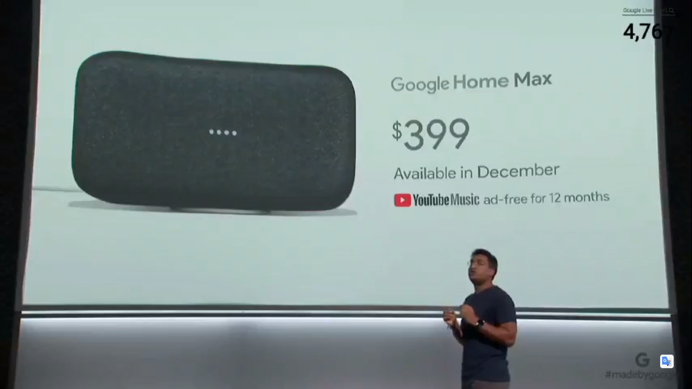 Google Home Mini, Home Max smart speakers launched: Price