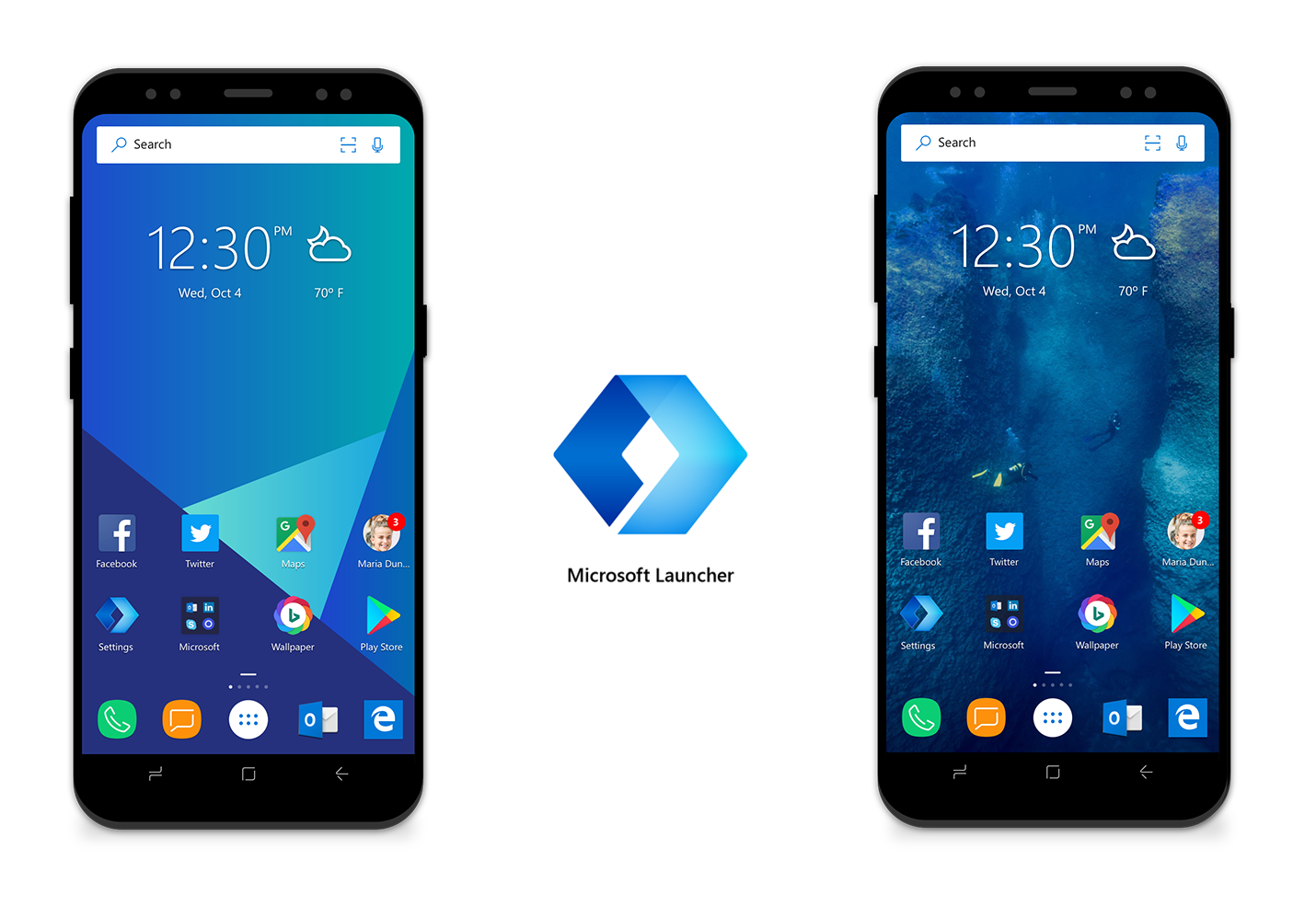 Microsoft Edge, Microsoft Launcher, now on preview mode for Android