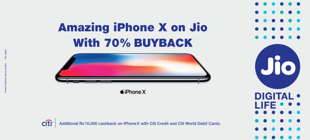 Reliance Jio iPhone X offer