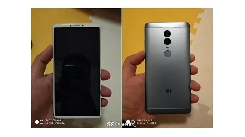Leaked Xiaomi Redmi Note 5 Images Show 189 Display Dual
