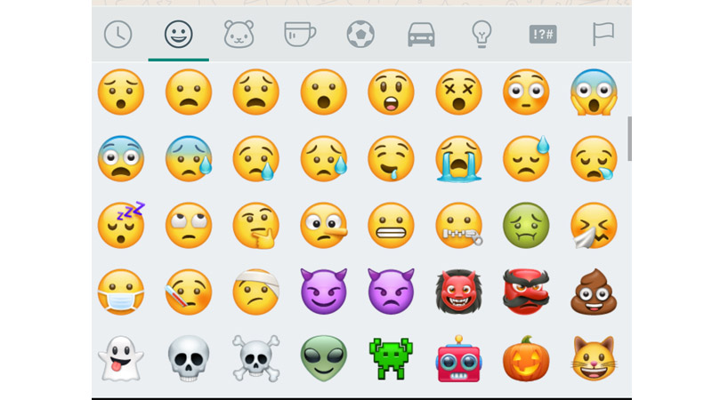 new emojis on WhatsApp Beta