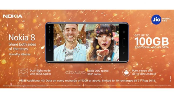 Nokia 8 Reliance Jio offer