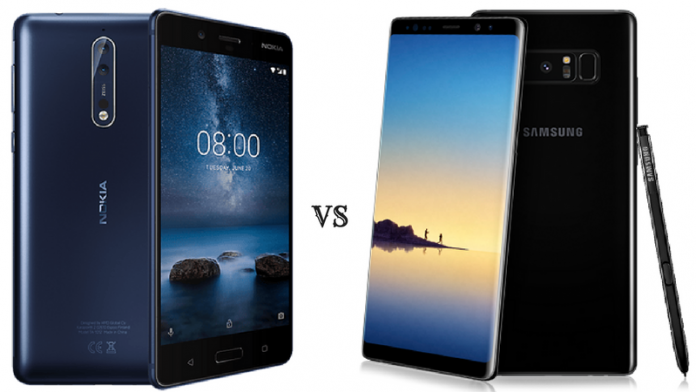 Nokia 8 Vs Samsung Galaxy Note 8
