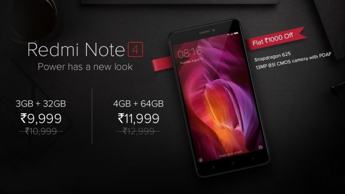 Xiaomi Redmi Note 4 price cut
