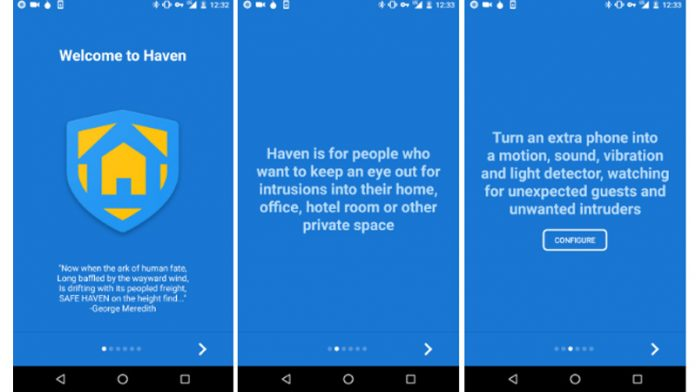 Haven Edward Snowden develops Haven app that allows you to spy on spies - Haven app featured image 696x392 - Edward Snowden develops Haven app that allows you to spy on spies