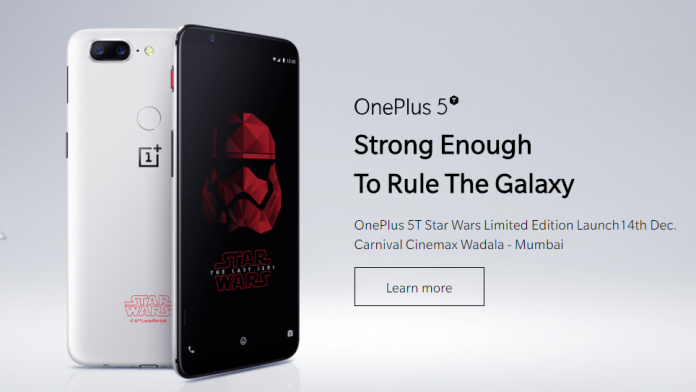 OnePlus 5T Star Wars Limited Edition announced; may be exclusive to India
