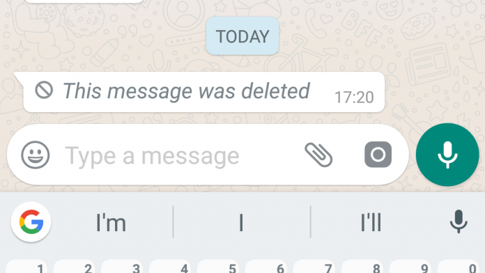 WhatsApp deleted message featured image
