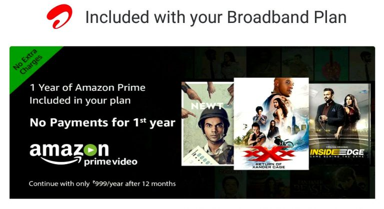 Airtel Postpaid, Broadband Customers Gets 1 Year Free Amazon Prime Membership