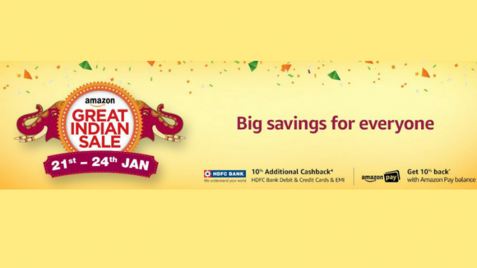 Amazon Great Indian Sale to start on 21st January; Grab huge discounts