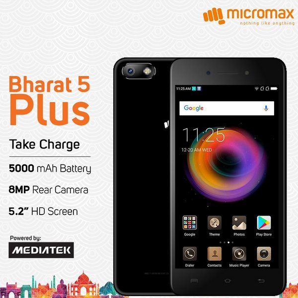 Micromax Bharat 5 Plus Wallpapers: Micromax Bharat Plus 5 With Android Nougat And Quad-core