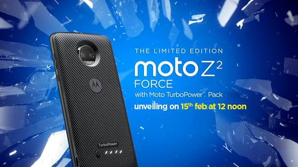 Moto Z2 Force will be launched in India on 15th Feb
