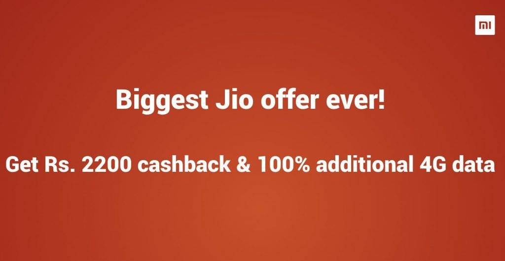 Reliance Jio Rs. 2,200 Redmi Note 5 Offer