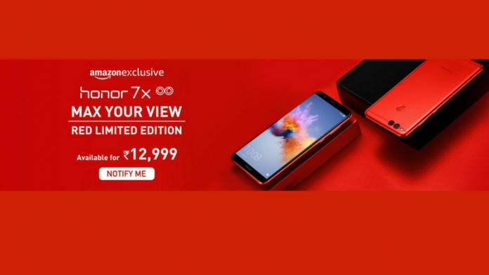 Honor 7X Red Edition launched in India at Rs. 12999