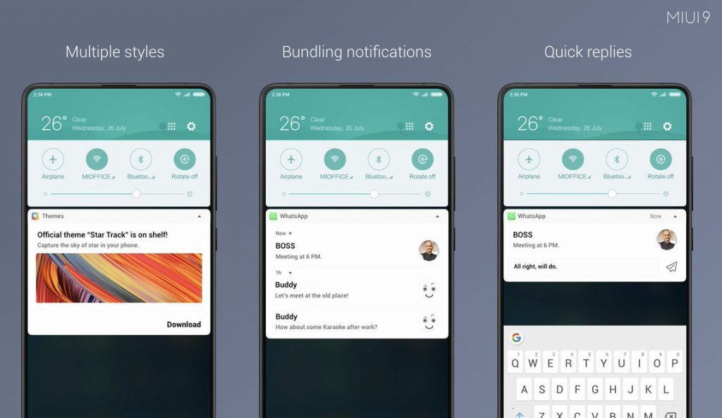 MIUI 9.5 Notification