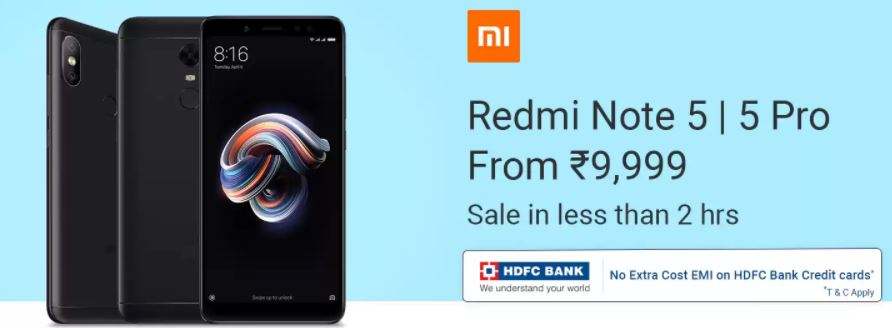 Xiaomi Redmi Note 5 Pro flash sale