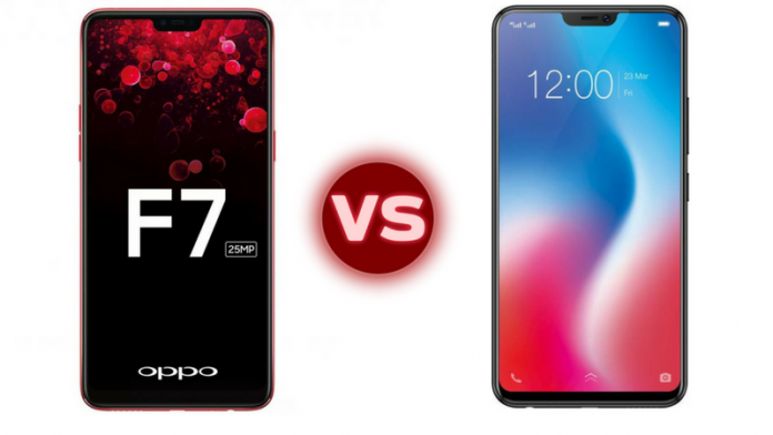 ede9ef8c032 Chinese smartphone makers Oppo and Vivo have refreshed their 2018 flagship  smartphone lineup in India with the Oppo F7 and Vivo V9 smartphones  respectively.
