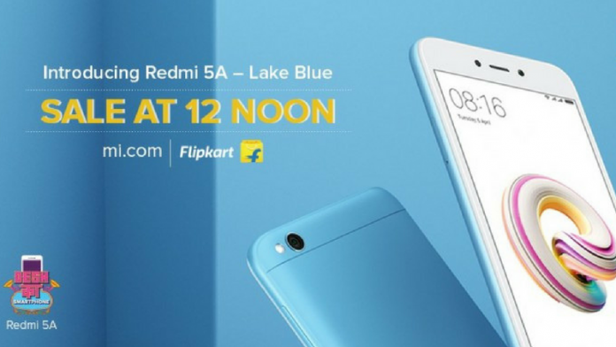 Xiaomi brings the Lake Blue colour of Redmi 5A to India