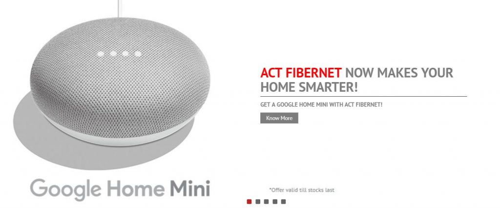 Google Home Mini Act Broadband
