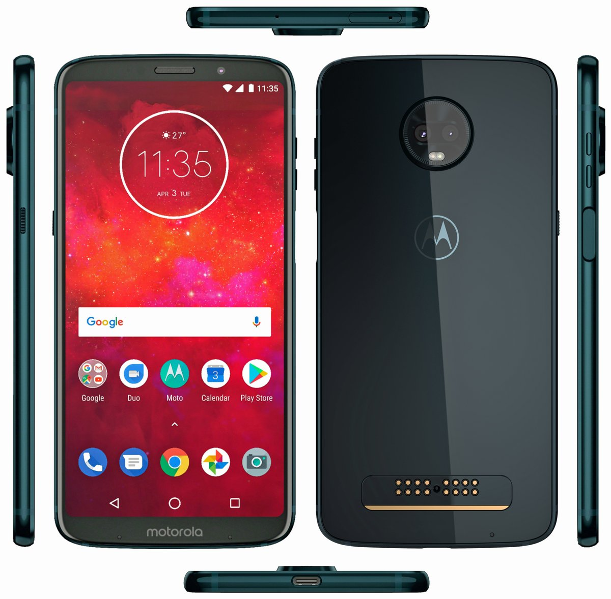 Moto Z3 Play render reveals device in Deep Indigo shades