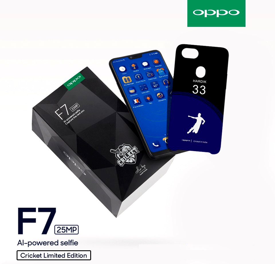 Oppo F7 Diamond Black Cricket Limited Edition - 2