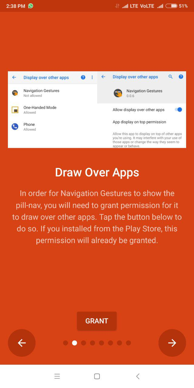 How to get Navigation gestures on any Android device without