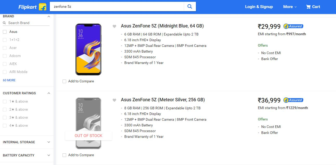 c66620208 Asus ZenFone 5Z price in India has been revealed on Flipkart just a day  before its launch. The listing on Flipkart confirms that Asus will launch  its ...