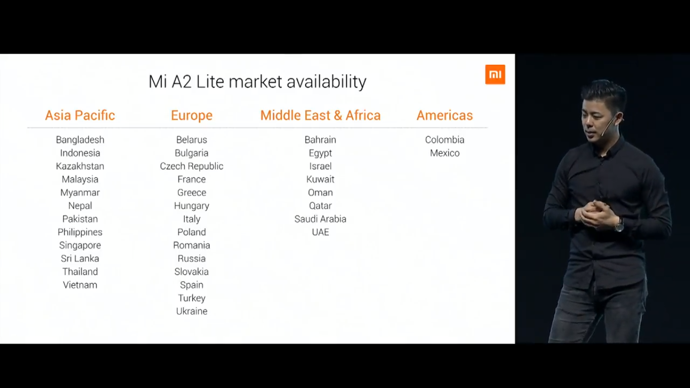 Xiaomi Mi A2 Lite Android One Smartphone with Notch Display