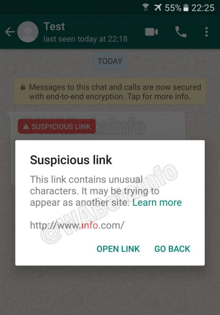 - SuspiciousLink ANDROID2 768x1099 716x1024 - WhatsApp starts testing 'Suspicious Link Detection' feature