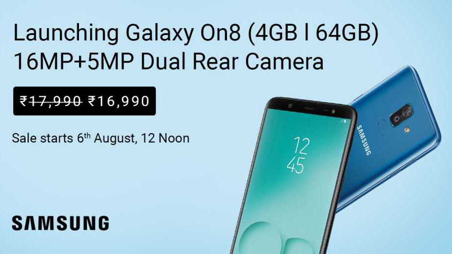 Dc5m united states it in english created at 2018 08 02 0009 samsung has launched a new smartphone in india in its on series dubbed as galaxy on8 the new galaxy on8 2018 is priced at rs 16990 and comes with a fandeluxe Image collections