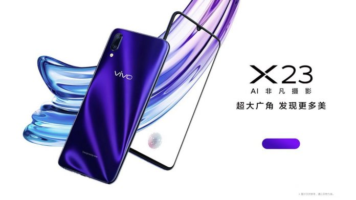 - vivo x23 696x391 - Vivo X23 Announced with Waterdrop Notch Display, Improved In-display Fingerprint Scanner