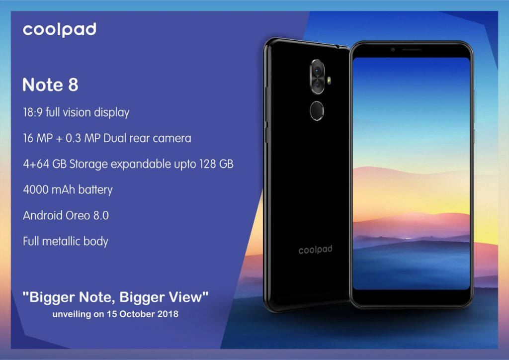 - DpidHeDWkAAcwpJ 1024x724 - Coolpad Note 8 with 18:9 display, dual cameras launched in India: Price, Specifications