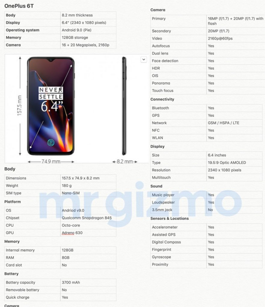 - DqXNEcjW4AAhZPV 882x1024 - OnePlus 6T Full Specs, Images Leaked Ahead of Monday's Launch