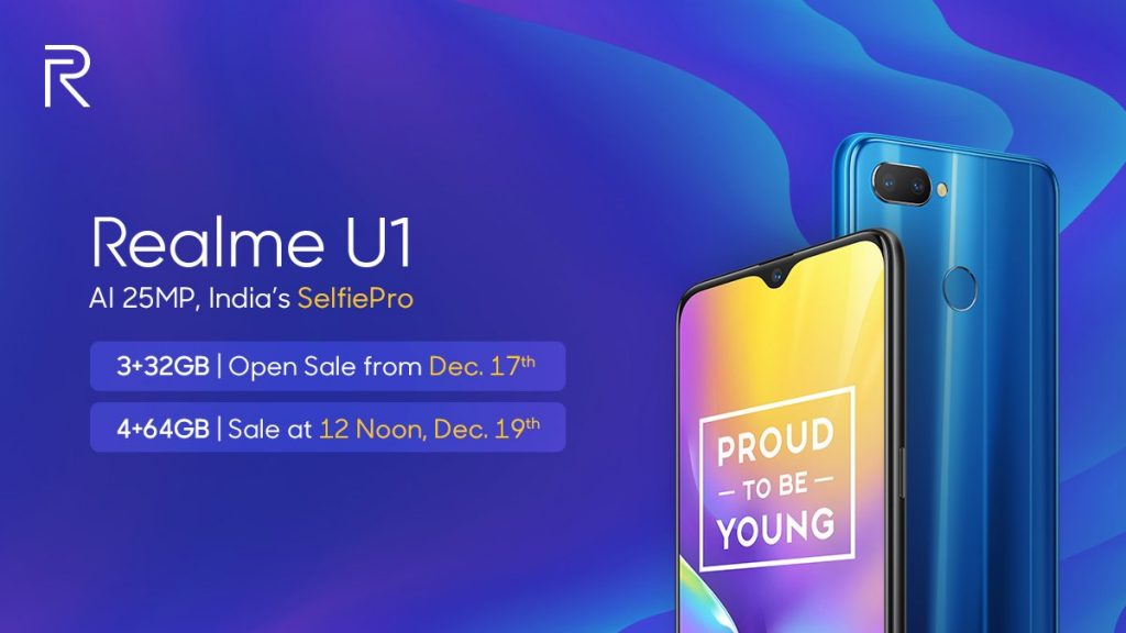 - DuWuy8aV4AAQKzp 1024x576 - Realme U1 3GB RAM version open sale starts from December 17