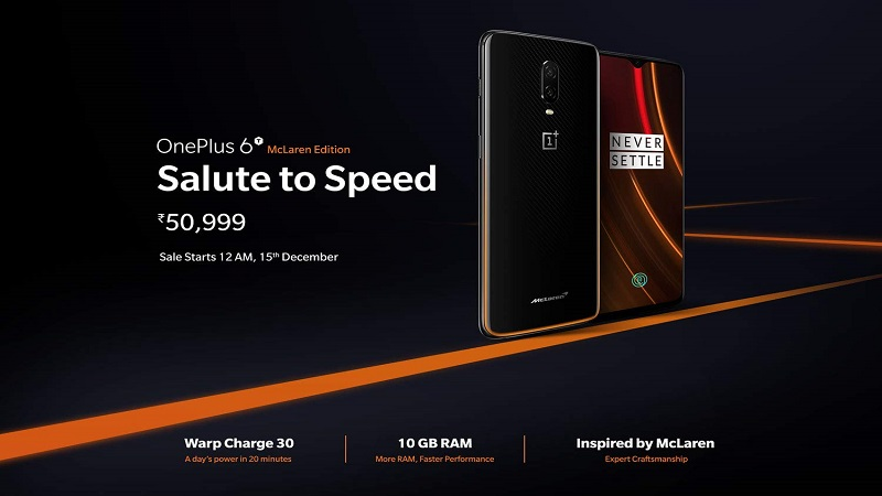 - PC updated Banner - OnePlus 6T McLaren Edition sale in India starts today: Price and launch offers
