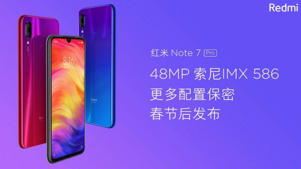 - Xiaomi Redmi Note 7 Pro teaser 1024x586 1024x576 - Redmi Note 7 Pro Price, iPhone 11, Moto G7, Redmi Note 7 Drop Test and More