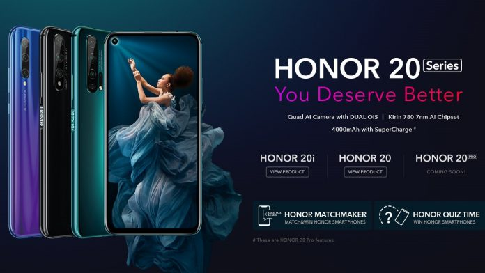 Honor 20 series India