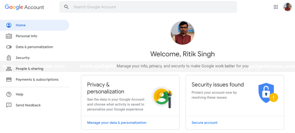 My Account Google