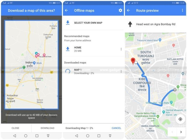 5 Best Android Apps That You Can Use Offline - Gadgets To Use Save Google Maps Offline Android on google sync android, google docs offline android, google maps android icon, google chrome search, city maps 2go android,