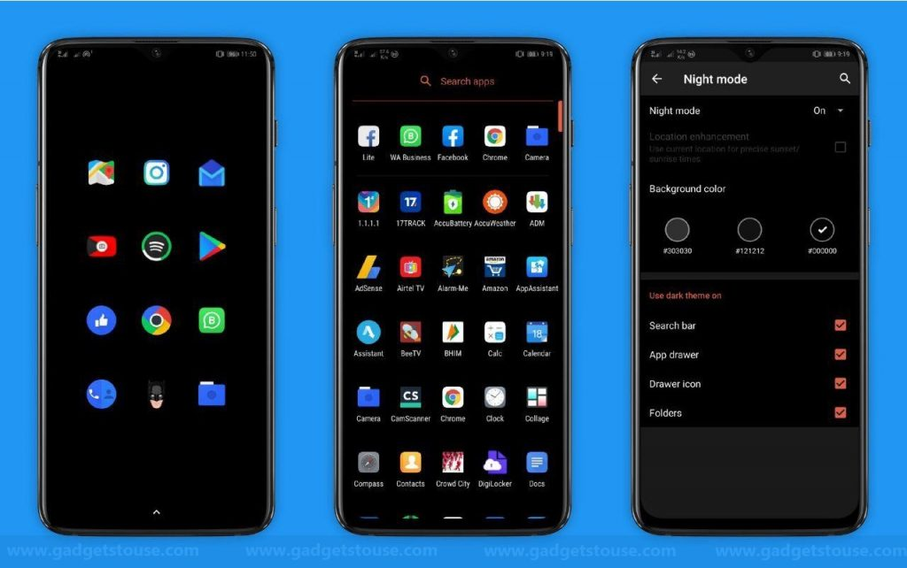 Top 3 Android Launchers with Dark Mode