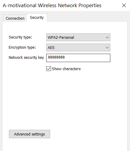 Recover Wifi password Windows