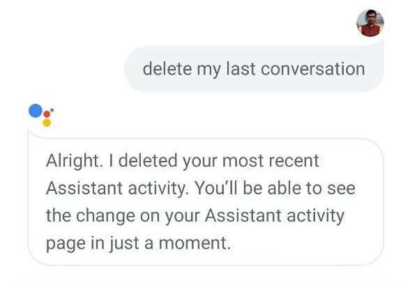 Delete Google Assistant History on Android using Voice Commands