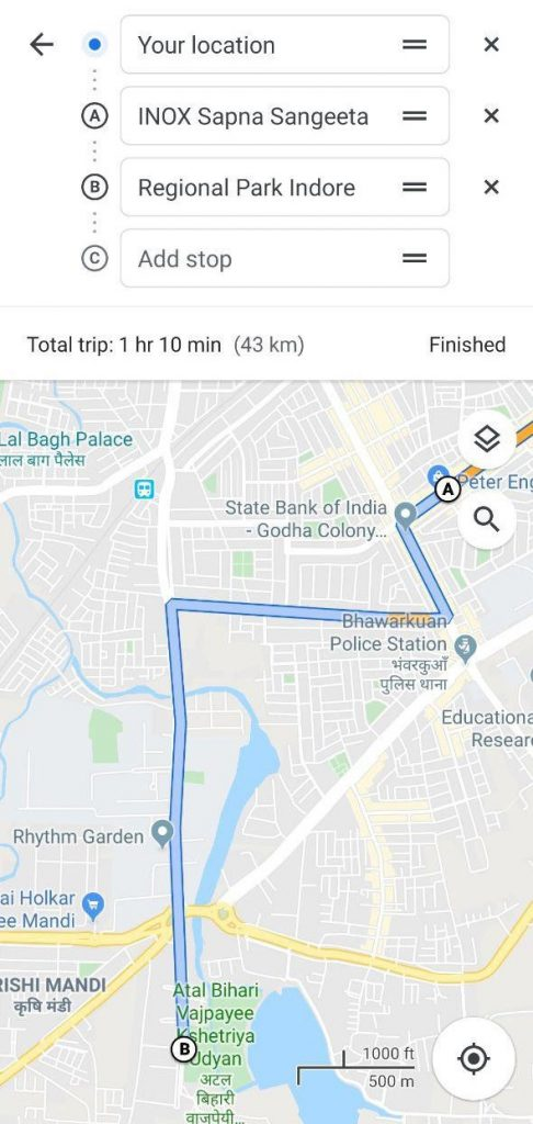 Google-Maps-4-486x1024 Learn how to Add A number of Stops in a Single Journey in Google Maps