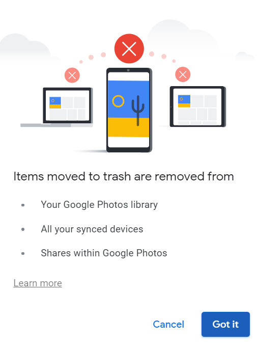 Remove Account from Google Photos