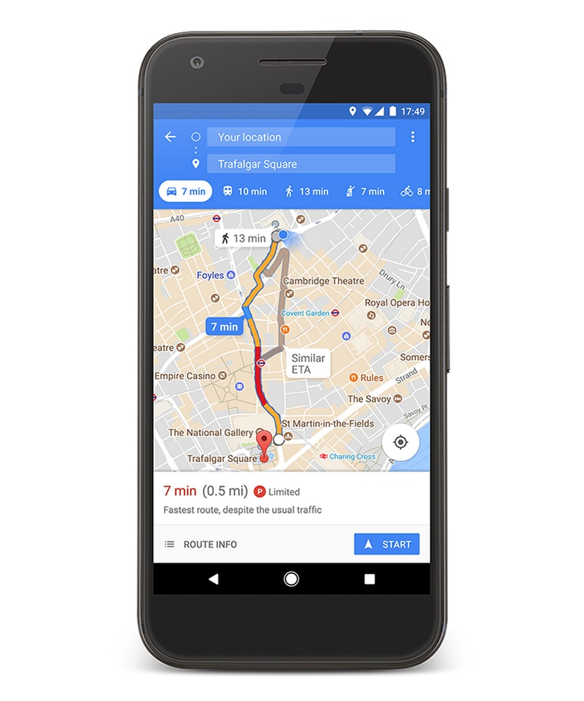 Find Parking using Google Maps
