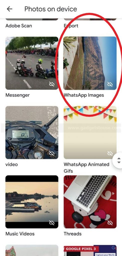 Backup WhatsApp Pictures in Google Photos
