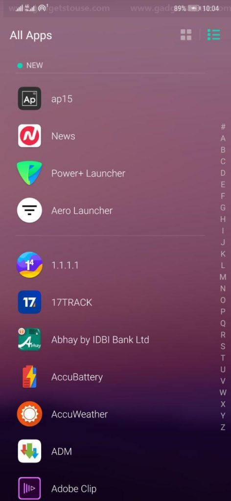 Android Launcher with Battery Saver Features